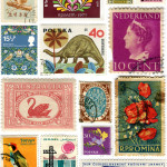 Time Travel Tuesday – vintage stamps around the world
