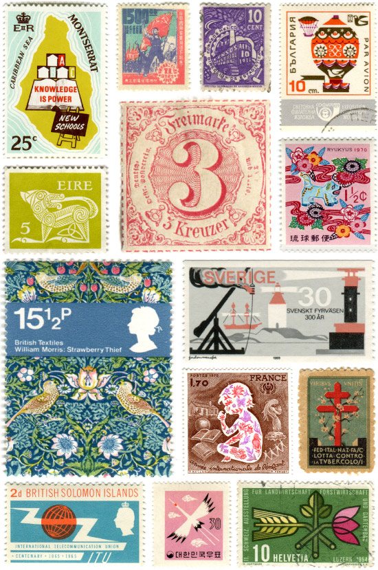 Time Travel Tuesday Vintage Stamps Around The World