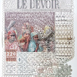 Myriam Dion's Cut Paper Newspapers