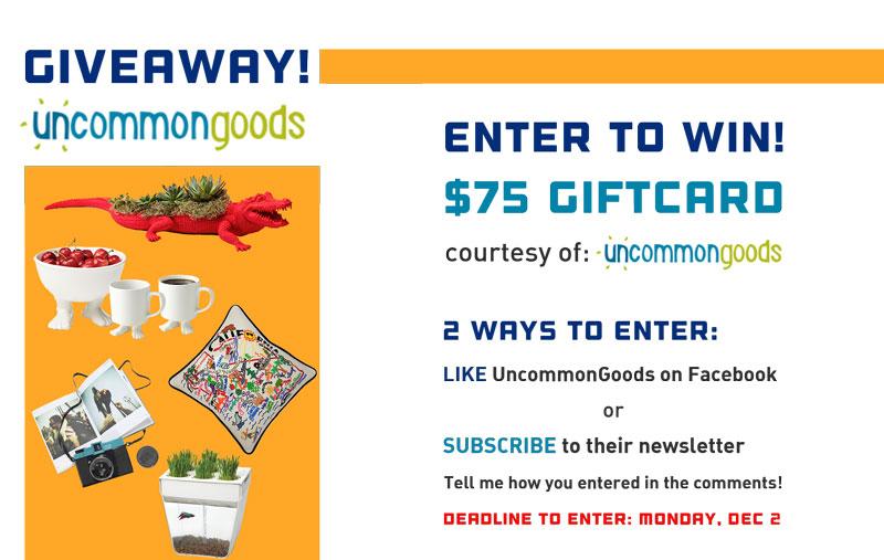 UncommonGoods Giveaway