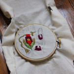 My Studio: A New Embroidery in Progress