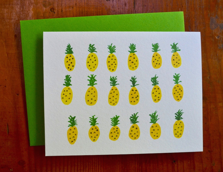 Pineapple card by Katie Barrie