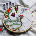 My Studio: Floral Embroidery in Progress