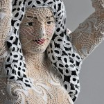 Joana Vasconcelos' Impressively Crocheted Statue and Painting