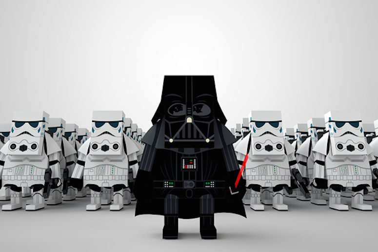 Star Wars paper toys, via Monde Mosaic
