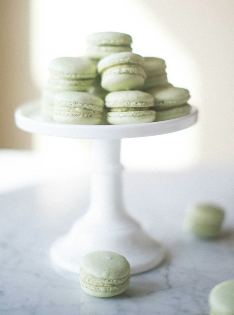 Pistachio Macarons via Sinclair and Moore