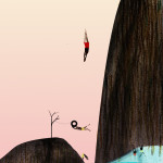 Cliff Dive with Sarah Jacoby: July's Header Picture Project