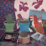 Anna Valdez's Painted Interiors Make Me Wish They Were My House