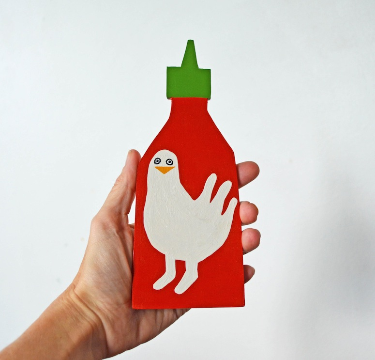 Sriracha sauce bottle via HermanMarie