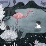 A nighttime dip with a flamingo nothing strange about that!hellip