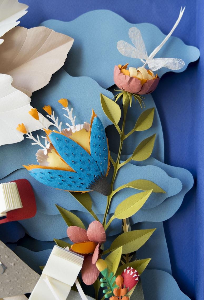 Elsa Moras Incredible Cut Paper Garden of Books Brown Paper Bag