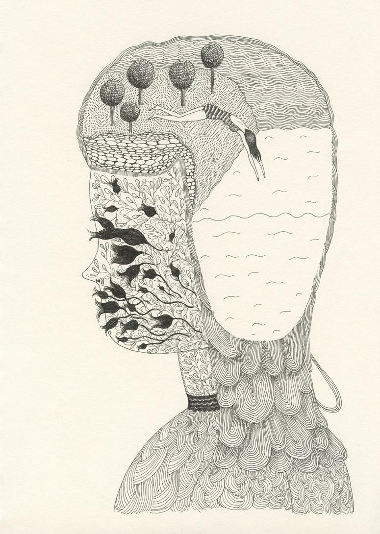 Elsa Mora. Personal - from her sketchbook.