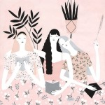 Stylish ladies soft color palette  this lovely illustration ishellip