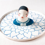 Stylish Ladies on Porcelain Brooches by Minini