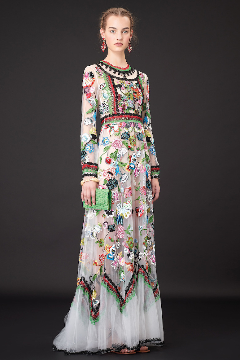 Amazing embroidery on valentino resort line brown