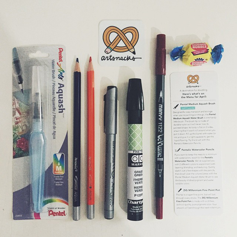 ArtSnacks April Box via @asdfmariely
