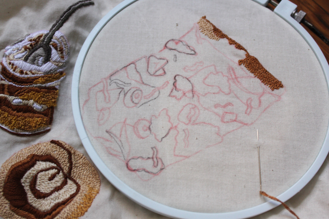 Sara Barnes embroidery
