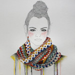 Izziyana Suhaimi Embroiders on Her Drawings to Keep Them Warm