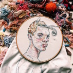 Lisa Smirnova Embroiders a Dynamic Portrait in an Impressionist Style