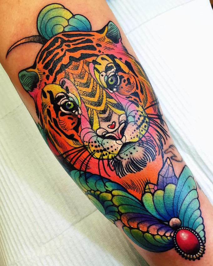 Colorful Lion Tattoo Tattoo Tattooed Tattoos: Katie Shocrylas' Colorful Tattoos Channel Lisa Frank