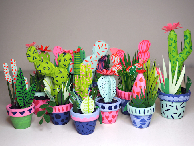 Kim Sielbeck S Paper Cacti To Hold In The Palm Of Your Hand