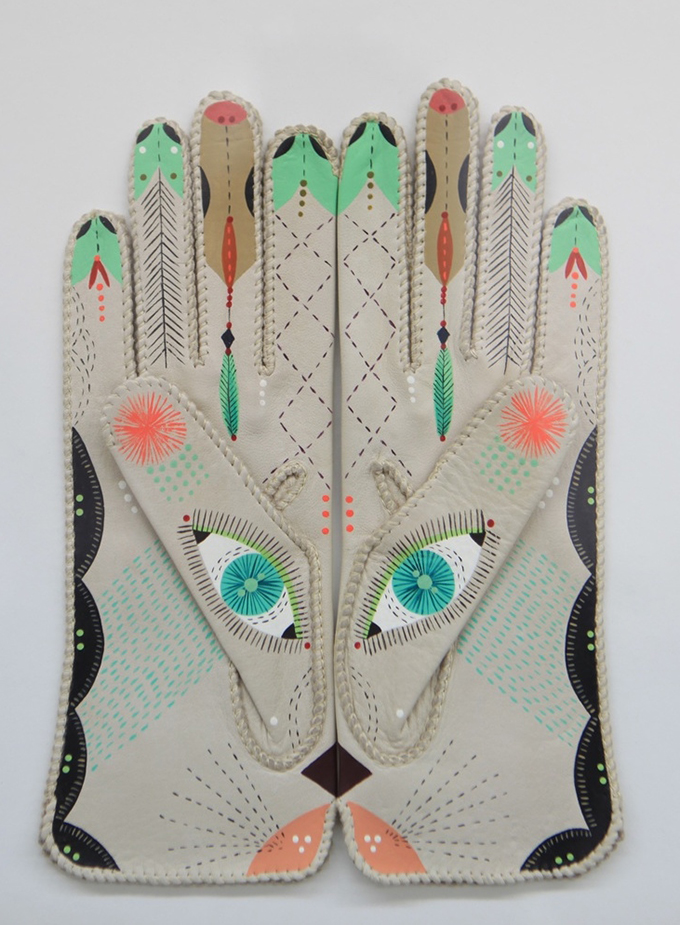 Cosmic Animal Gloves by Bunnie Reiss