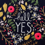 Beautiful Blooms and Hand Lettered Embroideries by Marigold + Mars