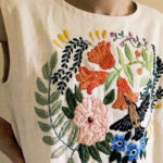 Upcycled Clothing Given New Life with Large, Tactile Embroideries