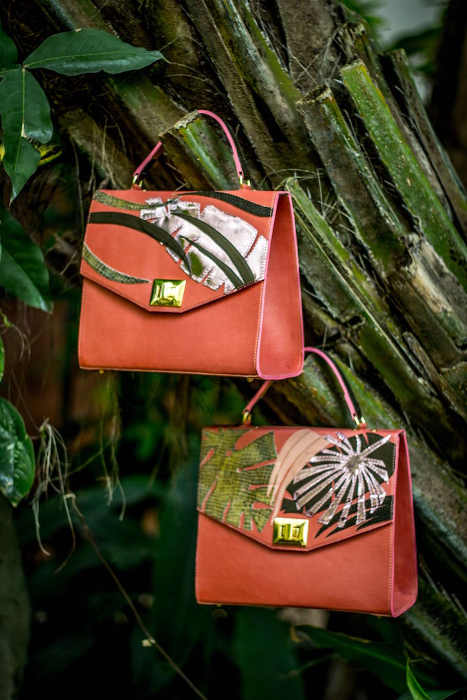 Timrose applique leather bags