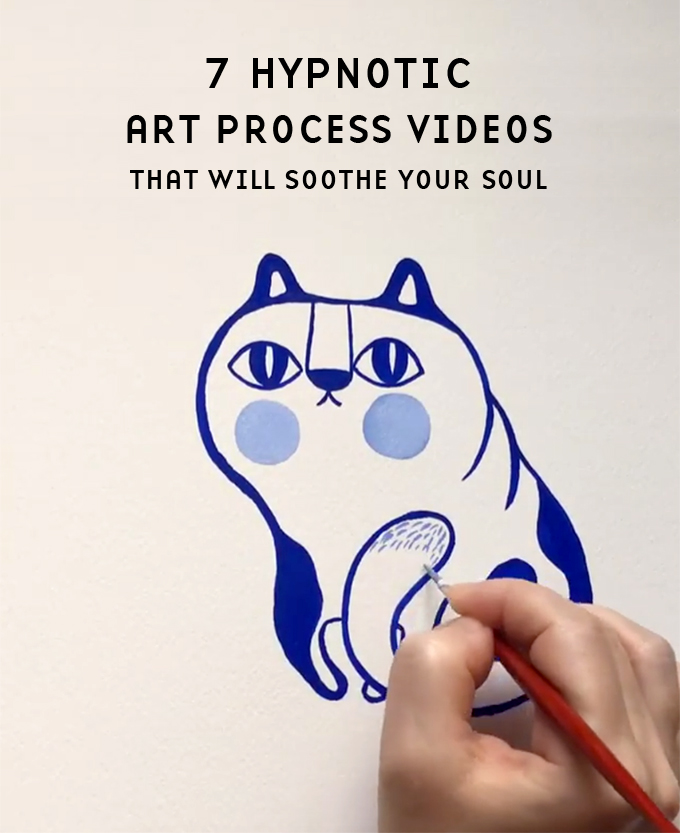 7 hypnotizing art process videos