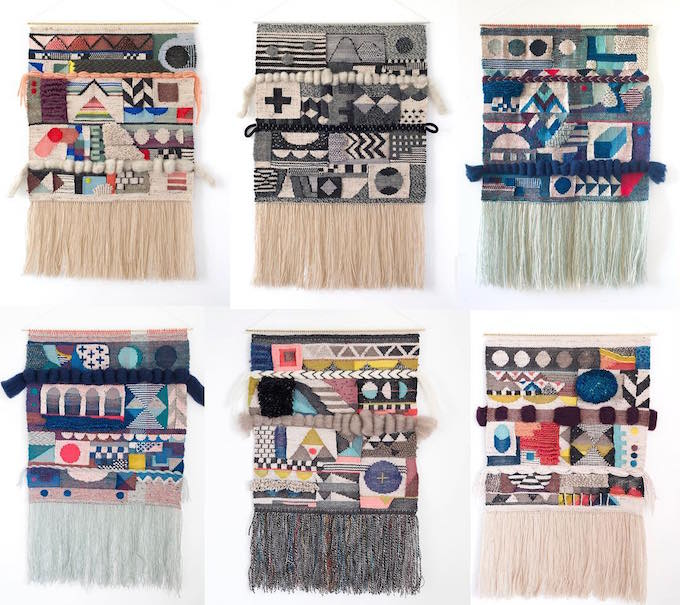 Genevieve Griffiths weaving