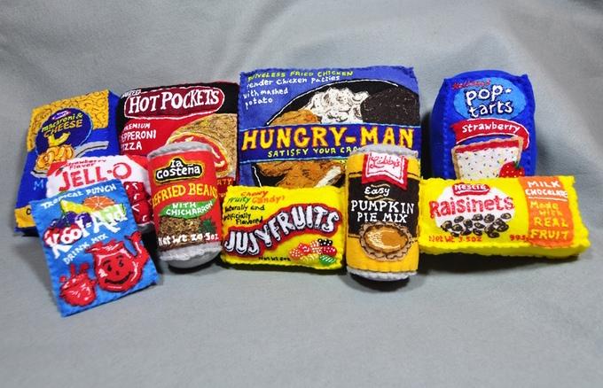 Lucy Sparrow felt foods