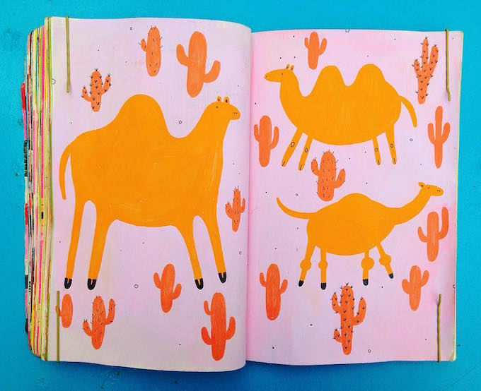 Molly Egan upcycled sketchbook