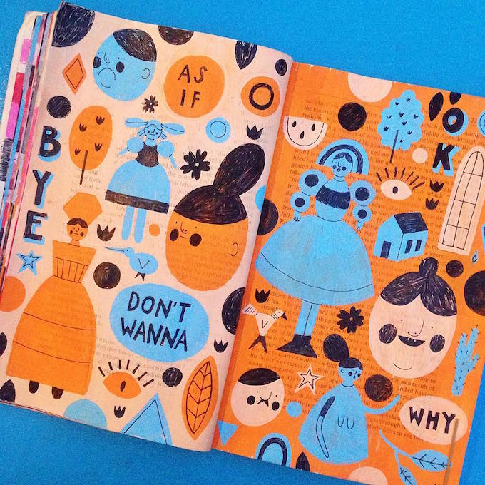 Molly Egan upcycled sketchbook
