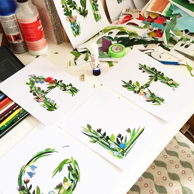Floral alphabet by Clover Robin