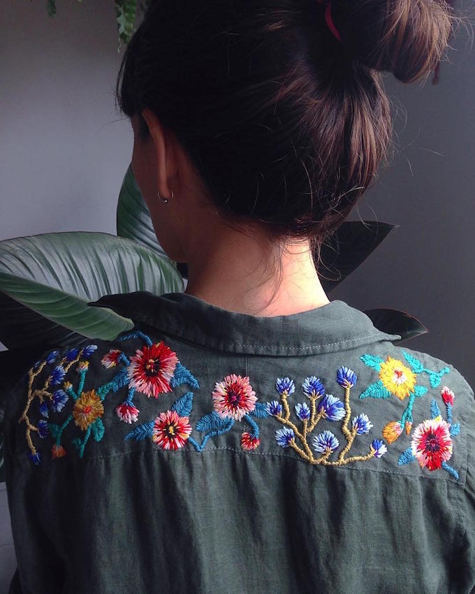 Embroidery by Trini Guzmán