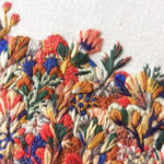 Intricate Embroideries Resembling Landscapes of Wildflowers