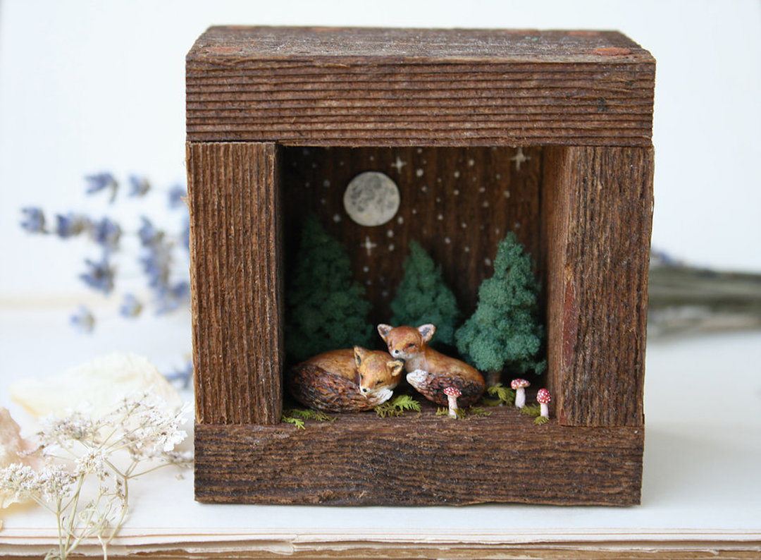 Meadow and Fawn sculpture