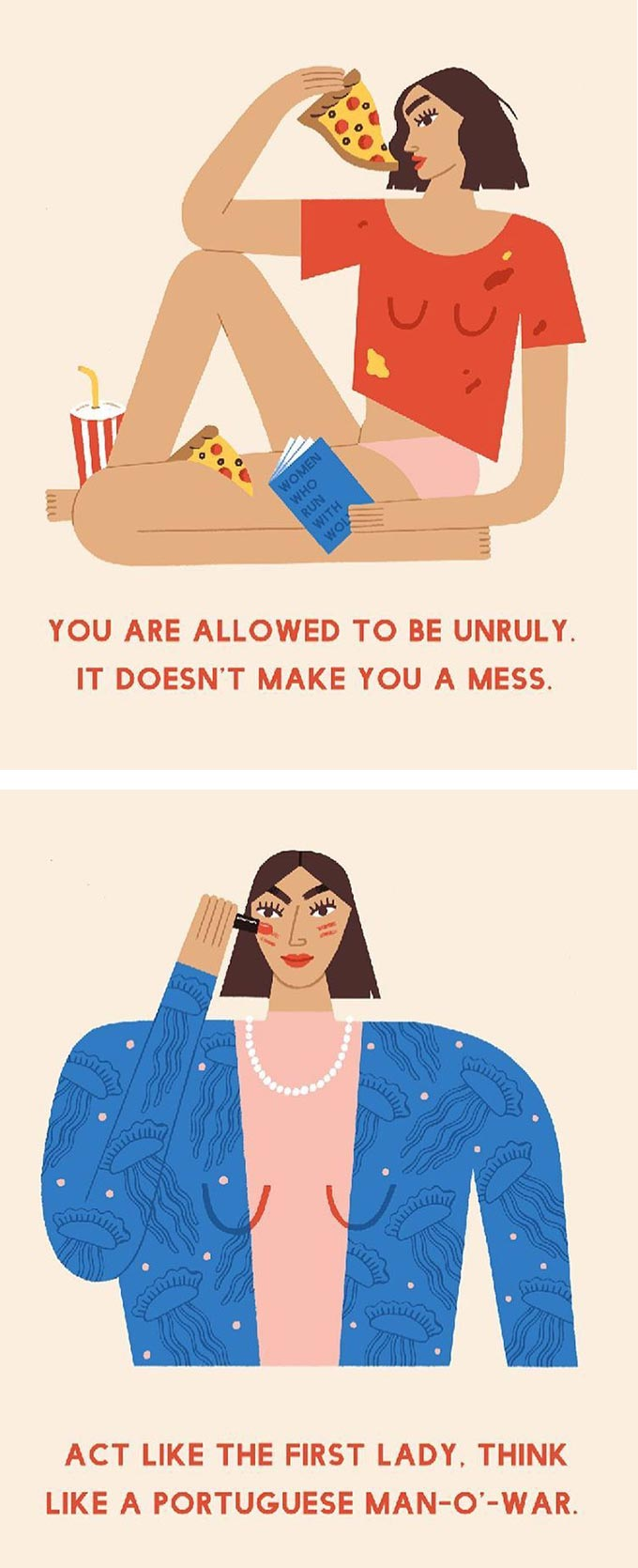Illustration by Noa Snir, words of wisdom by Amy Rose Spiegel