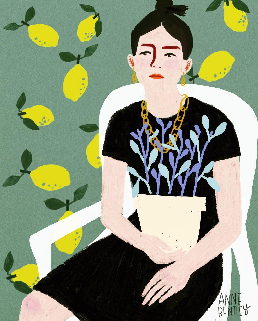 Illustrated portraits by Anne M. Bentley