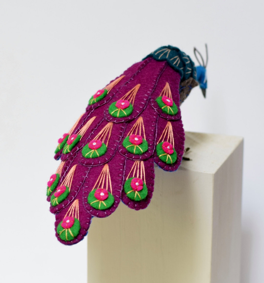 Jill Ffrench felt bird sculptures