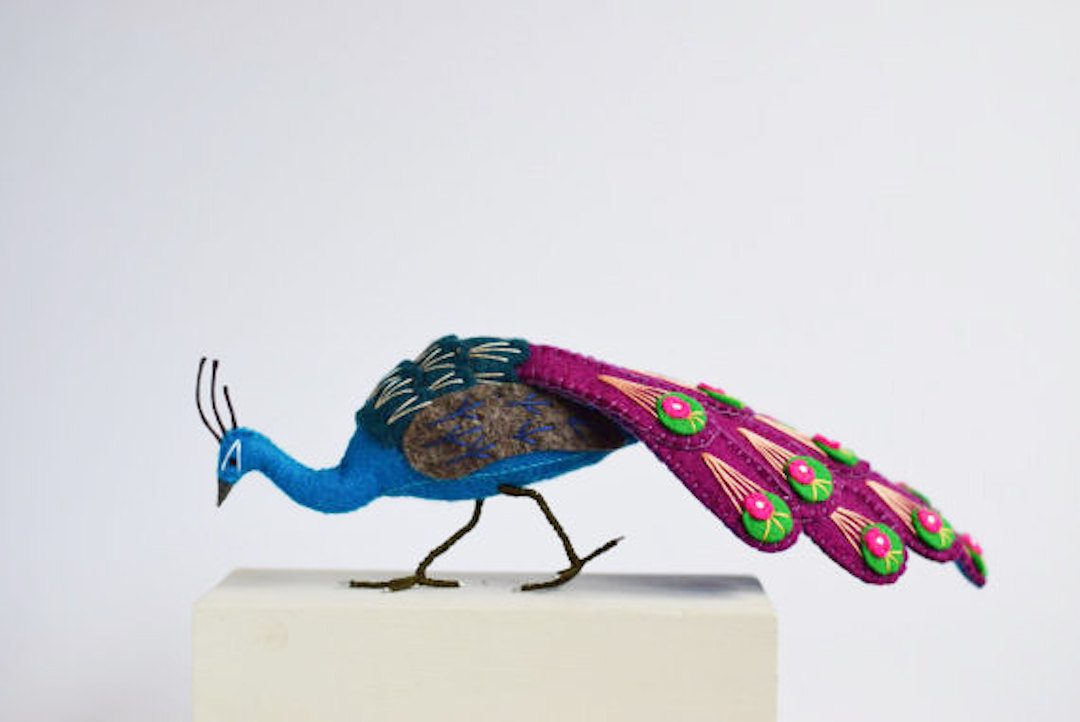 Bird Sculptures felted bird sculptures pay homage to their brilliant plumage