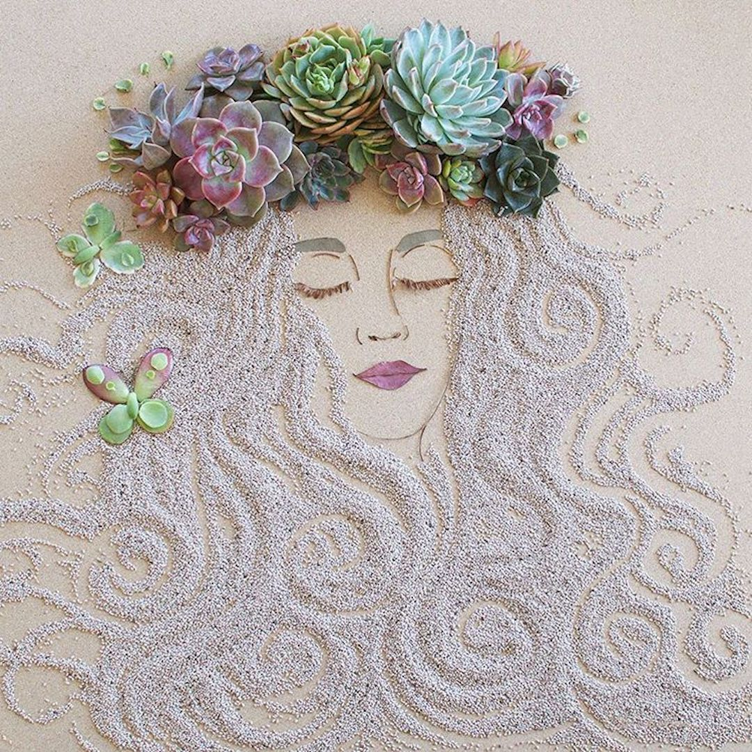 Sister Golden floral art