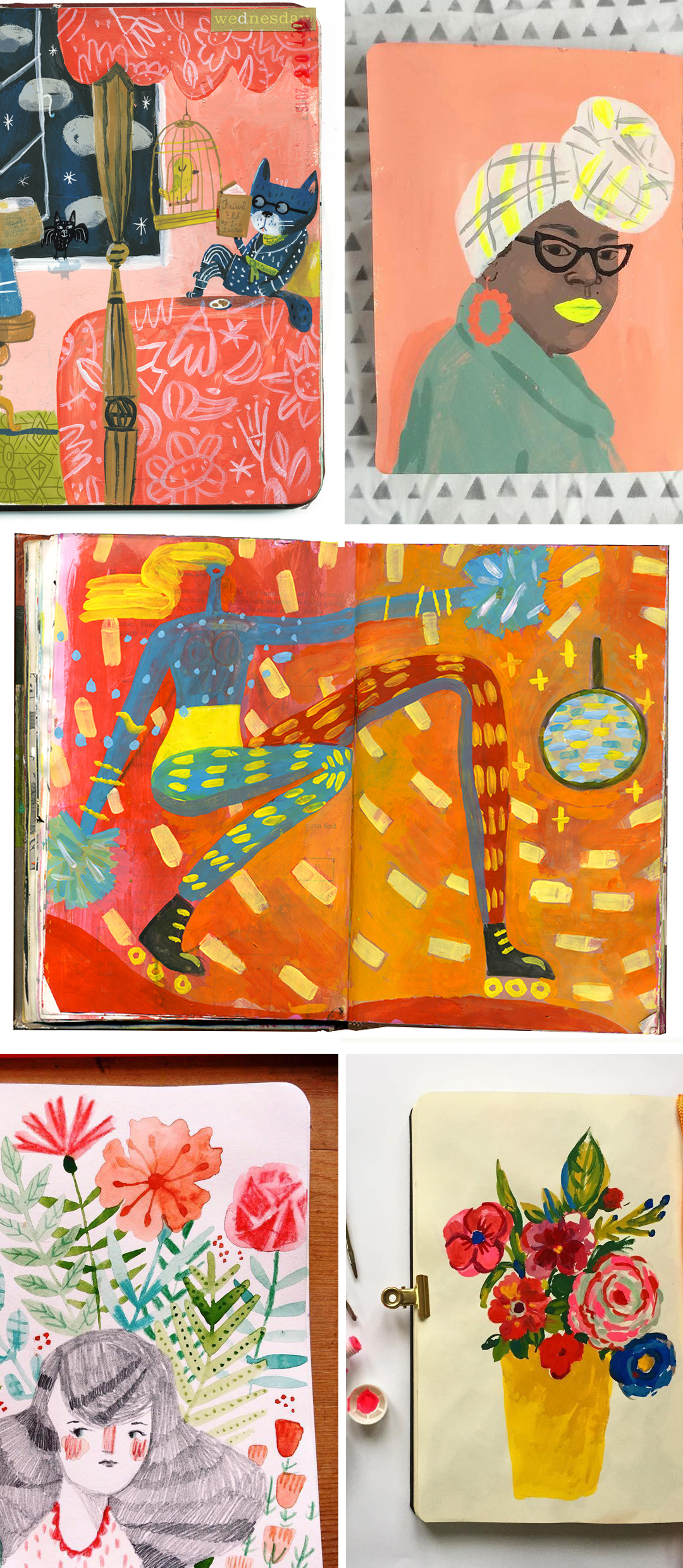 Illustrated sketchbooks