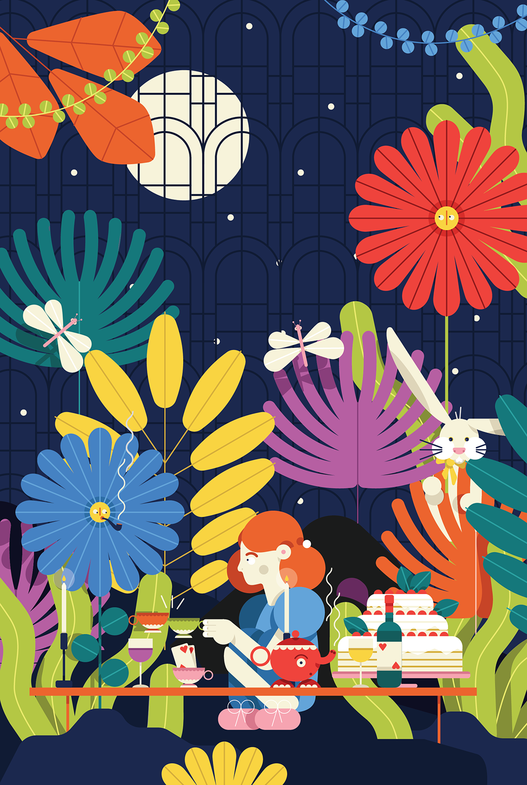 Colorful illustration by Caterina Ljung