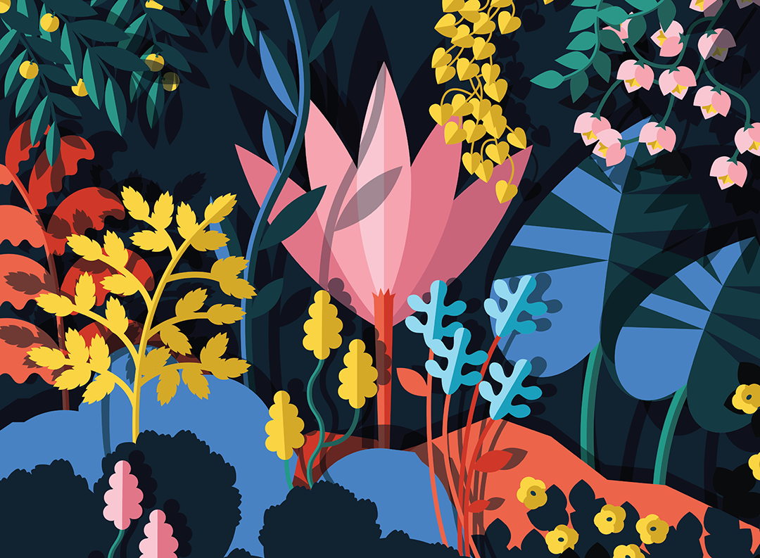 Colorful illustration by Kiki Ljung