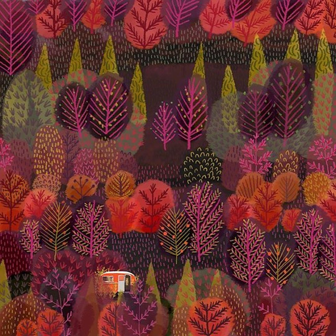 Landscape Illustrations by Jane Newland