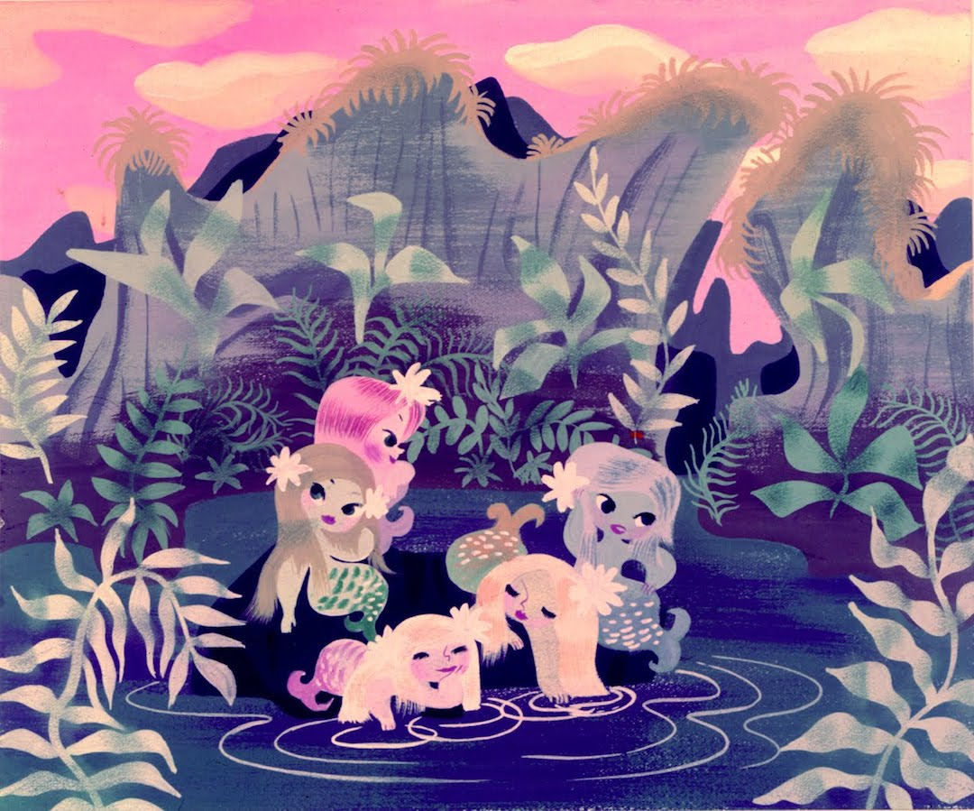 mary blair illustration vintage mermaids