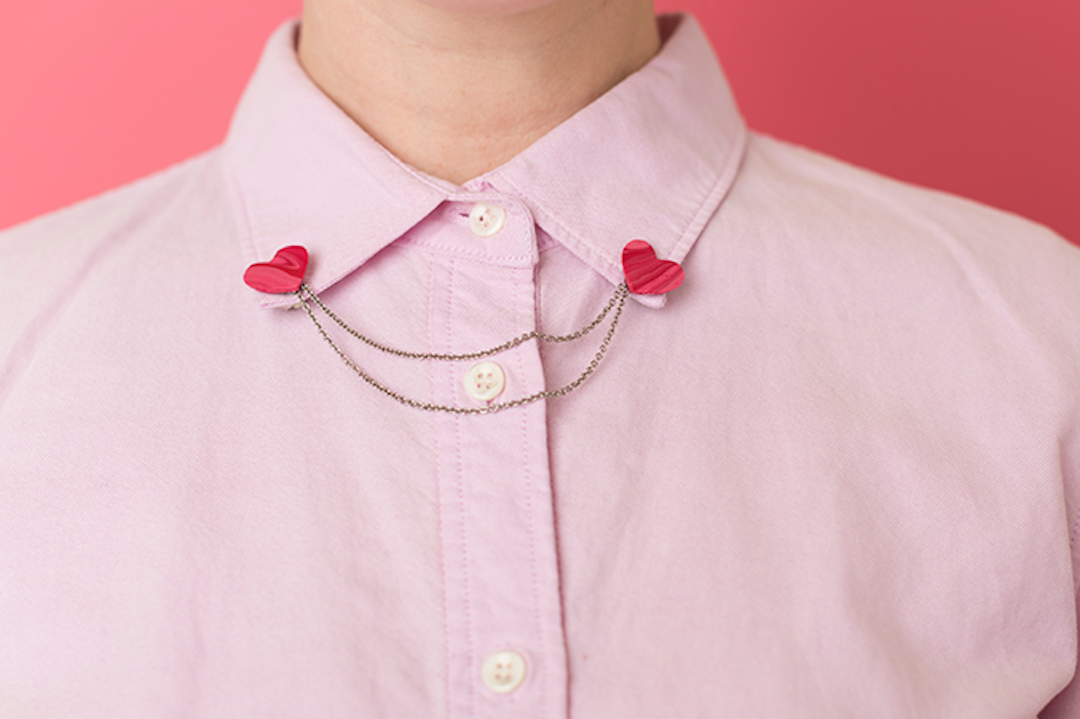 Collar Heart Pin DIY