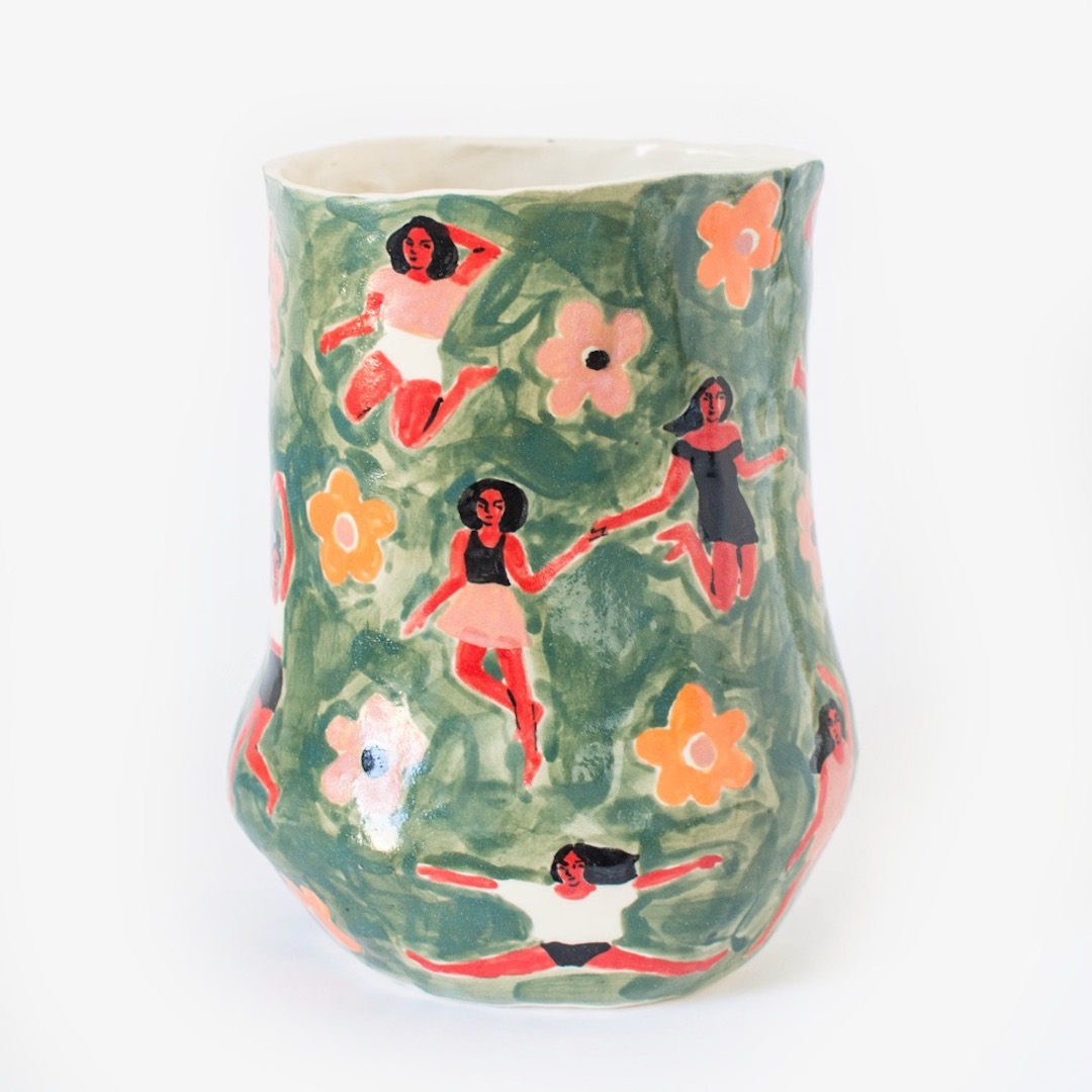 illustrated ceramics by Leah Goren